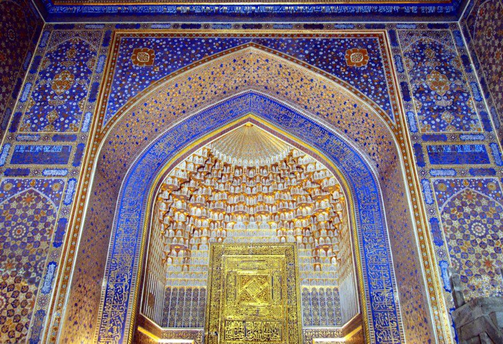 Tillya_Kari_Madrassah,_The_Registan,_Samarkand in Uzbekistan