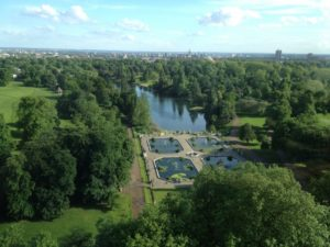 View from the Lancaster over Hyde Park