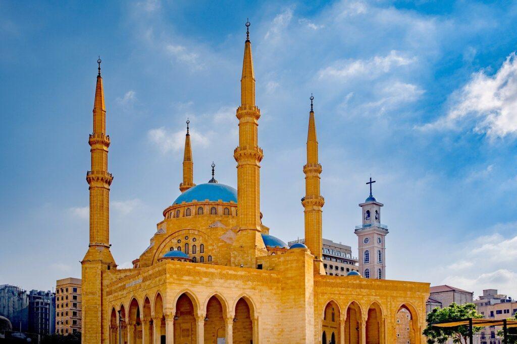 al amin mosque in beirut, lebanon