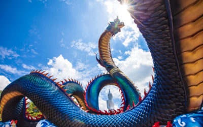 Searching for the Fire-Throwing Serpent in Between Thailand and Laos: Mukdahan Along the Mekong